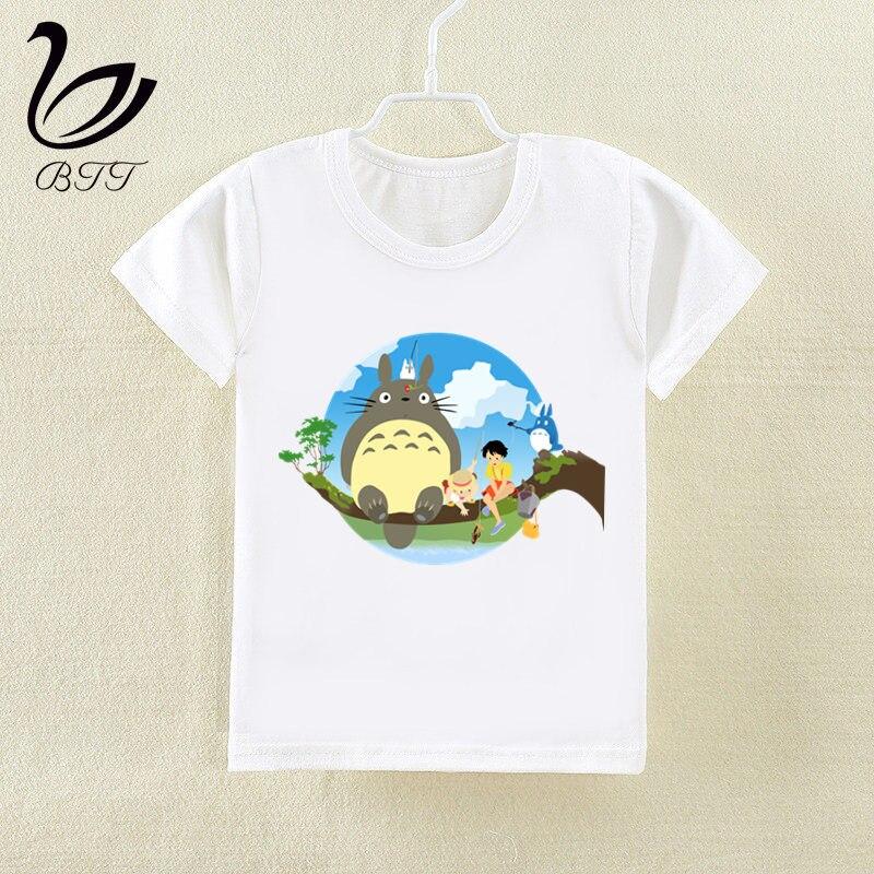Miyazaki Hayao Kawaii Totoro Japanese Anime T-shirt New Print T Shirt Short Sleeve O-neck Summer Tops Kid Casual Children Tshirt