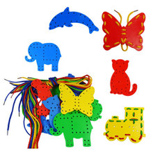 Lacing Toy Busy Board For Toddlers Kids Puzzle Montessori Juguetes Educativos Meninos Meninas 2 -4 anos