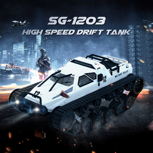 SG 1203 RC Tank Car With Gull-wing Door Drift 2.4G 1:12 High Speed Full Proportional Control Vehicle Models 5M Wading Depth Toy(China)