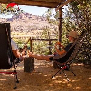 Image 5 - Naturehike açık kamp ay sandalye taşınabilir Ultralight balıkçı taburesi ofis ev mobilyaları katlanır arkalığı sandalye ayı 300kg