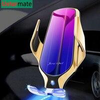 Qi 무선 자동차 충전기 적외선 센서 10 w 무선 빠른 충전 아이폰 11 프로 x xs 최대 삼성 s10 플러스 참고 10 브래킷