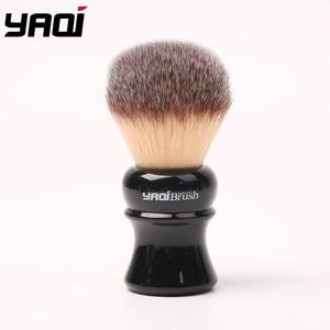 Image 5 - Yaqi pincel de barbear sintético com punho preto, 24mm, amarelo, cabelo sintético, molhado