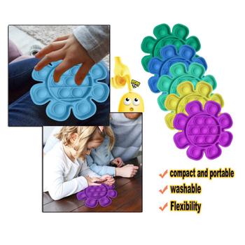 Dorosłe dzieci zabawne zabawki antystresowe Push Bubble Fidget zabawka sensoryczna autyzm specjalne potrzeby Stress Reliever zabawki Focus Soft Squeeze Toy tanie i dobre opinie AUKUK CN (pochodzenie) Bubble Fidget Sensory Toy Educational Toys Stress Reliever Toys Push Bubble Fidget Sensory Toy