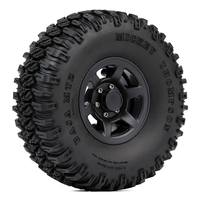 INJORA 4PCS 1.55 Beadlock Plastic Wheel Rim Tires for RC Crawler Car Axial AX90069 D90 TF2 Tamiya CC01 LC70 MST JIMNY 4