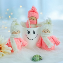 Angel Doll Christmas Wreath Pendant Decoration Childrens Toys Festive Party Dress Up Props Window Display