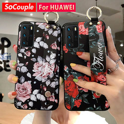 SoCouple pasek na rękę dla Huawei P20 Lite P30 P40 Pro Lite Mate 20 30 Pro Lite Nove 5t Honor 20 30 Pro etui na telefon
