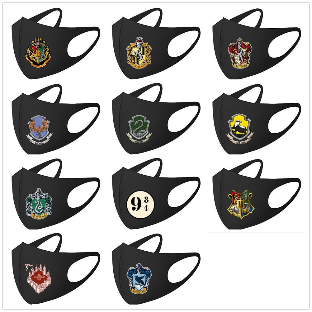 H.Potter Mouth Mask Breathable Unisex Face Mask Reusable Anti Pollution Face Shield Wind Proof Mouth Cover