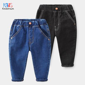 2020 moda chłopcy dżinsy 2 kolory dżinsy dla chłopców dziewcząt styl spodnie dżinsowe dżinsy spodnie bawełniane dla chłopców dziewcząt dżinsy DC208 tanie i dobre opinie Kindstraum Na co dzień Pasuje prawda na wymiar weź swój normalny rozmiar Elastyczny pas Unisex Stałe Dzieci Proste