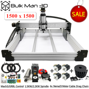 1515 WorkBee CNC Router 4 Axis CNC Milling Machine Full Kit PCB Wood Plastic Metal Engraving Carving Machine with small budget(China)