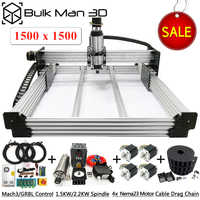 1515 WorkBee CNC Router 4 Axis CNC Milling Machine Full Kit PCB Wood Plastic Metal Engraving Carving Machine with small budget