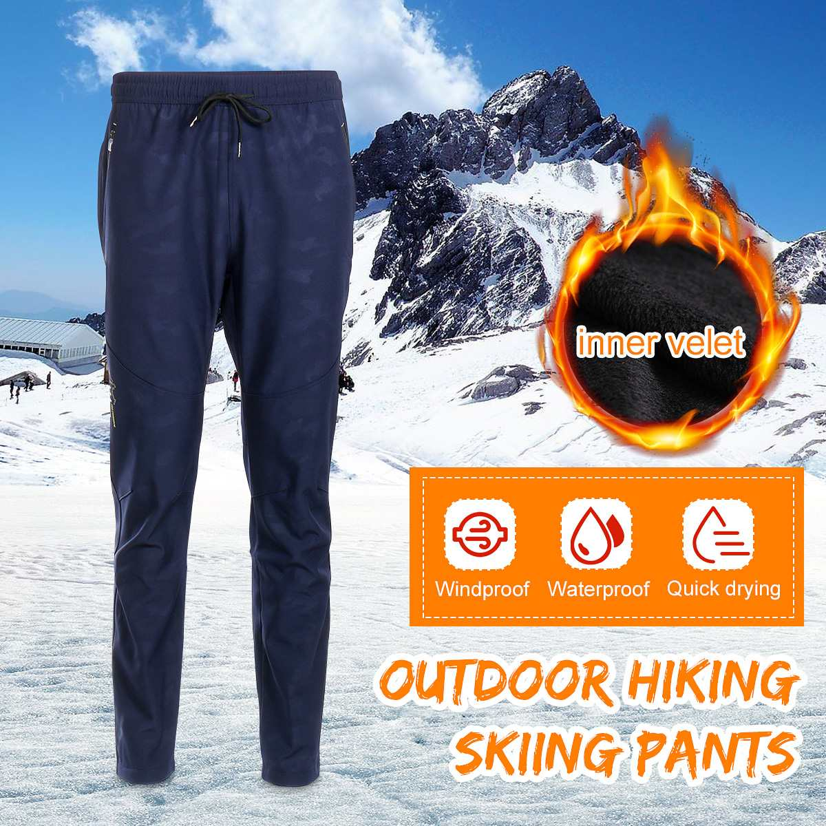 2019 New Winter Long Warmth Trousers Plus Velvet Thickening Men And Women Trousers Stretch Slim Soft Shell Pencil Pant For Climb