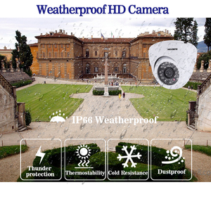 Image 4 - HD 5.0MP 1/3 SONY Sensor 2592*1944P 5MP AHD Dome Camera CCTV IR Cut Filter Camera Room night vision 4CH Home Surveillance Kits