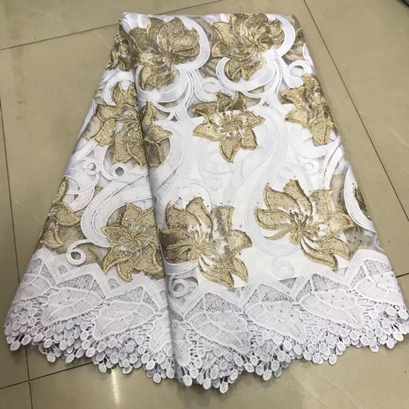 5Yards New Design Wholesale Price White Color African Net Lace Fabric 2019 French Best Tulle Mesh