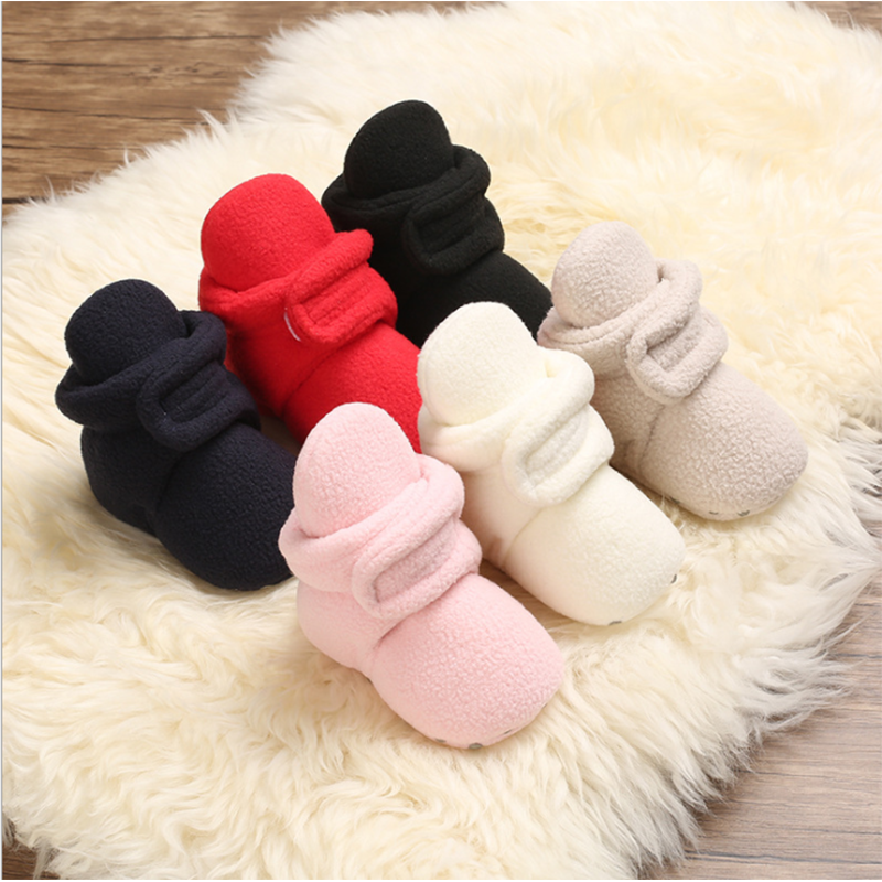 2020 Baby Winter Boots Baby Girl Boys Winter Warm Shoes Solid Fashion Toddler  First Walkers Kids winter Shoes 0-18M