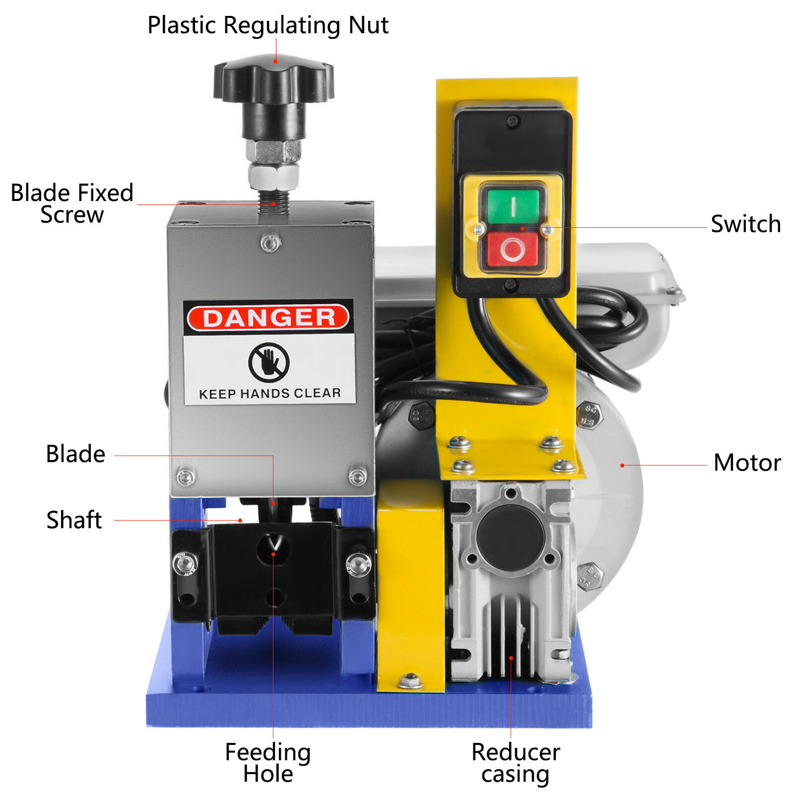 Details about  /Electric Wire Stripping Machine Portable Powered Comercial 1//2HP Cable Stripper!