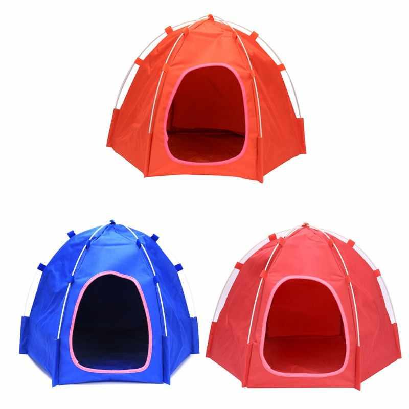 6 coins abri pliable Portable pliable pour animaux de compagnie tente chien maison chien chat tente chenil étanche opération facile fournitures extérieures