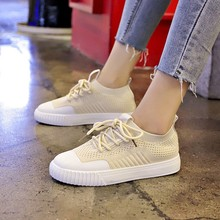 Woman Sneakers Casual Shoes Breathable Sewing Mixed Colors Spring Platform Vulcanize Lace-Up C0021