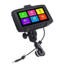 Karadar 5 inç Android Navigator motosiklet su geçirmez DDR1GB MT 5001 GPS WiFi, oyun mağazası uygulaması indir, Bluetooth 4.0