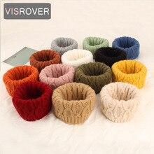 VISROVER/Новинка, 13 цветов, унисекс, детский однотонный вязаный шарф-снуд, детский шарф с кольцом, шейный платок, шерстяная петля, Детские шарфы