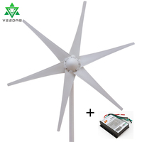 12V 24V Wind Turbine Generator 400W Small Mini Windmill Wind 3/5/6 blades Controller Charge Generator for Marine Light Land