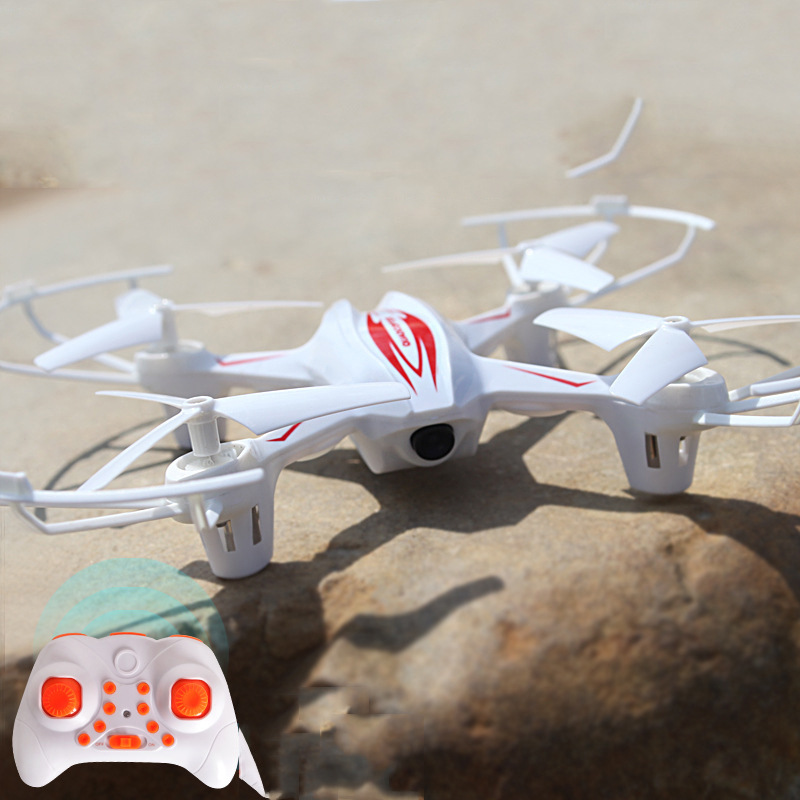 Hot Selling Plastic Drop-resistant Aviation Model Remote Control Toy Plane Children Charging Quadcopter Unmanned Aerial Vehicle