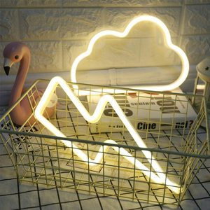 Image 5 - Neon Zeichen Batterie/USB Betrieben Wolken Blitz Neon Lichter für Weihnachten kinder Zimmer Party Urlaub Geschenk Schlafzimmer Shop decor