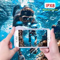 Universal Waterproof Phone Case For iPhone X XS Max XR 6 s 6S 7 8 Plus Cover underwater Photography Diving Swim Pouch Dry Bag