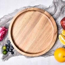 Деревянный поднос из акации креативная пицца для гостиной чайного