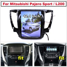 Carro android para mitsubishi pajero sport 2 l200 triton 2015 tesla 2021 tela de estilo tesla estéreo carplay gps mapa navegação multimídia
