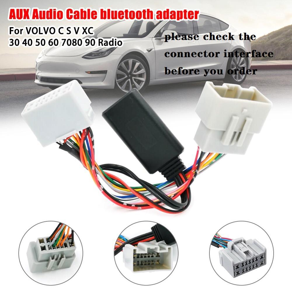 Автомобильный аудиоприемник, адаптер AUX с Bluetooth для Volvo C30 C70 S40 S60 S70 S80 V40 V50 V70 XC70 XC90