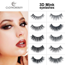 CLOTHOBEAUTY Mink Eyelashes 3D Mink Hair Lashes Wispy Handmade Natural Long 1 Pair Thick Volume Soft False Eyelashes Extension-A