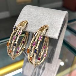 GODKI 2020, трендовые крученые поперечные серьги-кольца, Дубай, цветные женские свадебные ювелирные изделия, апертура, серьги, pulseras mujer moda