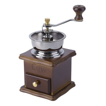 Vintage Manual Hand Hand-cranked Beech Wood Pepper Coffee Grinder Ceramic Burr Roller Coffee Mill Coffee Tools manual coffee grinder wood metal hand mill spice mill wood color