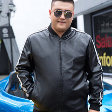Male Vintage Leather Bomber Jacket for Big Men Russian Faux Leather Jackets Plus Size Pu Coat Outerwear 5xl 6xl 7xl 8xl 9xl 10xl