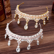 Bridal Hair Accessories Princess Crown Wedding Tiara Headband Diadem for Girls Crystal Jewelry Tiara Decoration Ornaments red crystal wedding crown queen tiara bride crown headband bridal accessories diadem mariage hair jewelry ornaments