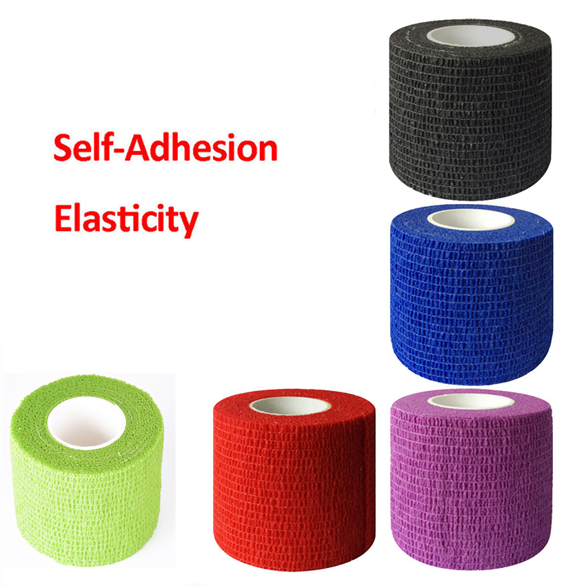 5cm Tattoo Grip Bandage Cover Wrap Nonwoven Waterproof Self Adhesive Finger Wrist Protection Disposable Elastic For Handle Tube