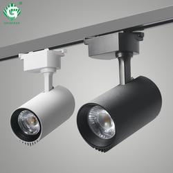 30W Cahaya Rel Lampu Sorot Sistem LED Track Lampu Perlengkapan Aluminium Tempat Lampu Sepatu Kain Toko Buah Malam pencahayaan
