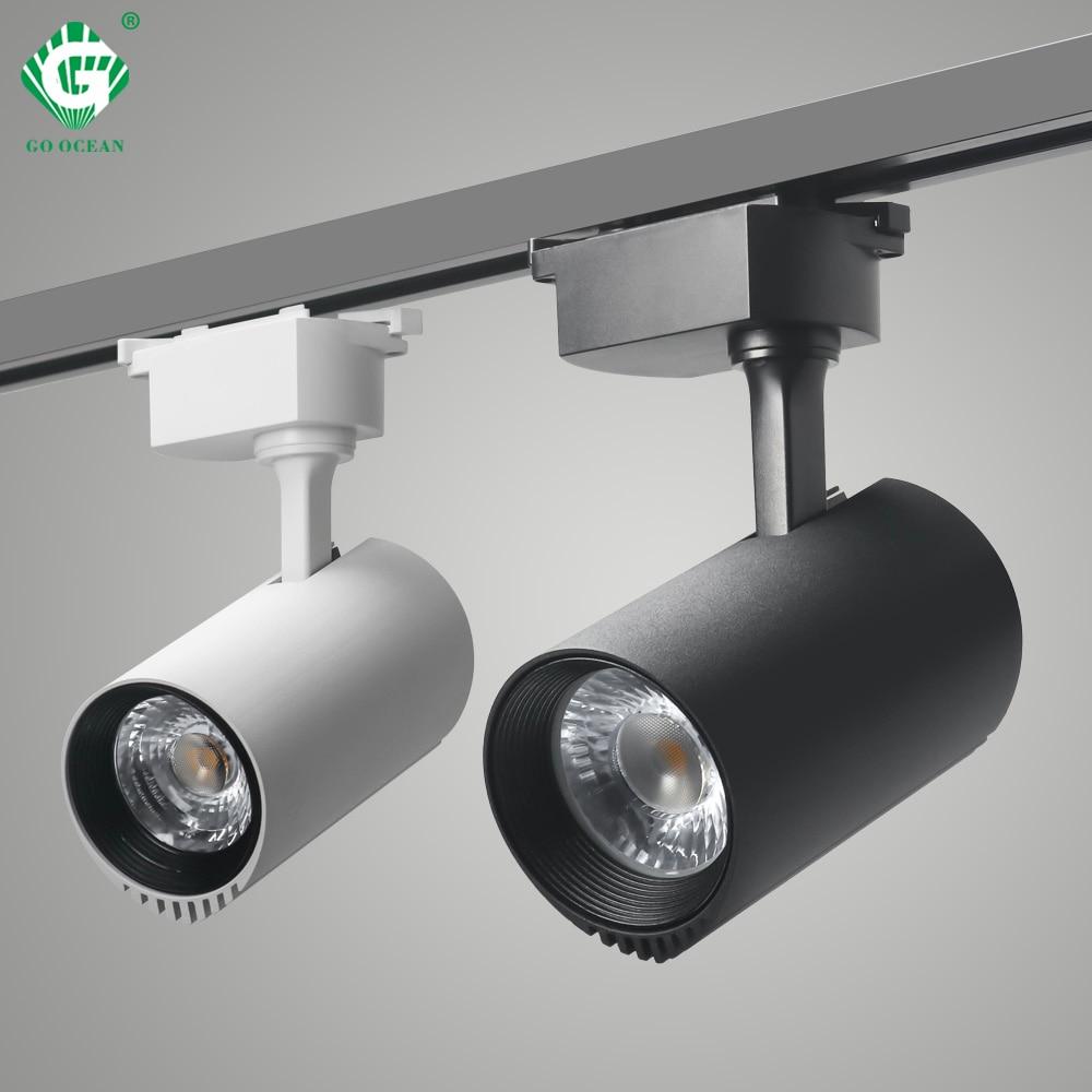 30W Track Light Rail Spotlight Lamp System LED Track Lights Fixtures Aluminum Spot Lamps Shoes Cloth fruit Shop Night Lighting
