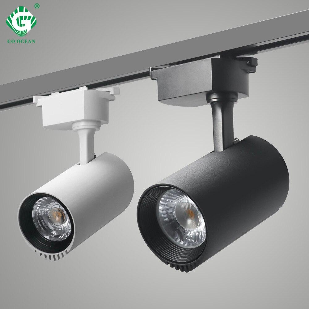 30W reflektor szynowy szyna lampka punktowa System lampy led na szynę oprawy aluminiowe lampy punktowe buty tkaniny sklep z owocami oświetlenie nocne