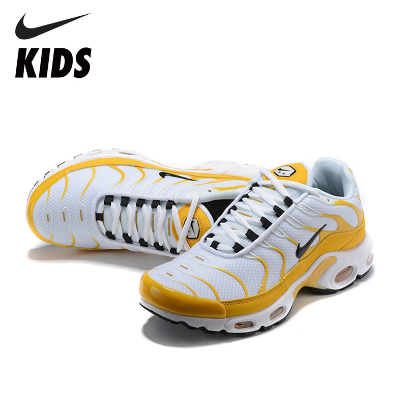 Nike  Original  Air Max Tn Kids Shoes Breathable Parent-child Mens Running Shoes Outdoor Sports Sneakers Adult