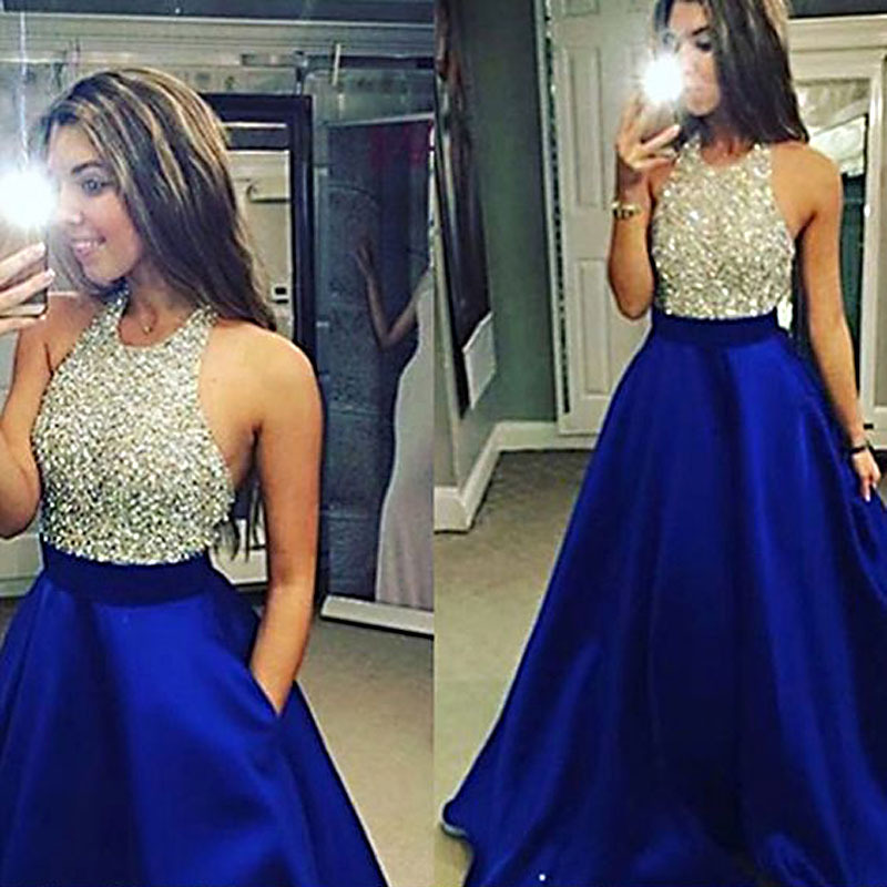 2018 Europe And America Dress WOMEN'S Dress AliExpress Hot Selling Sexy Halter Backless Bridesmaid Dress Customization
