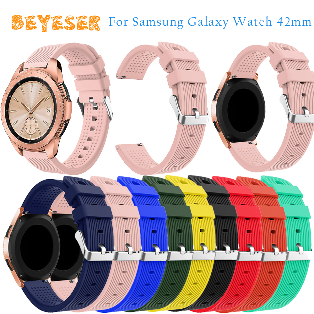 20mm silicone watch strap For Samsung Galaxy 42mm Wristband Bracelet Replacement For Samsung Gear S2 watches bands