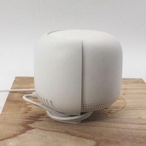 Image 2 - Support de routeur pour Google Nest Wifi support de montage mural avec enrouleur de câble sécurité et utilisation facile dans la maison partout 2 pièces