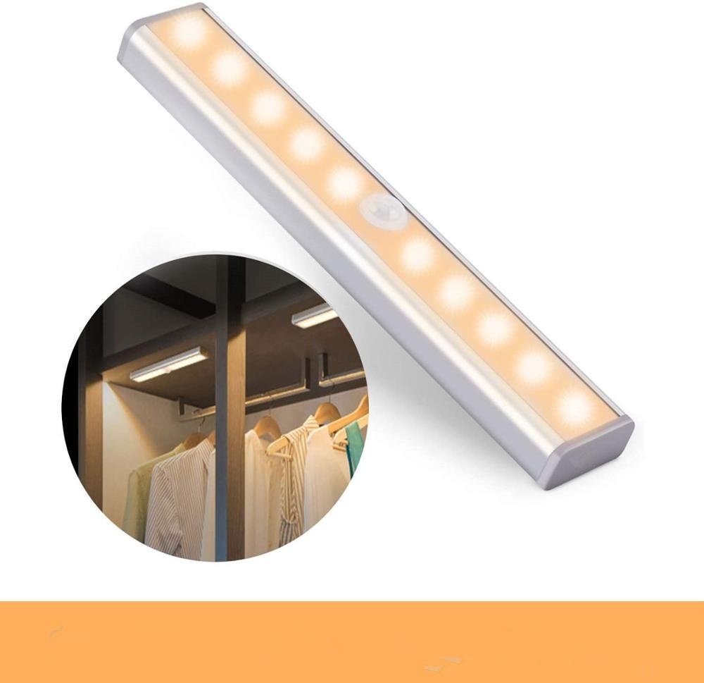 Cold/Warm White Portable Closet Kitchen Lights Wireless PIR Motion Sensor Night Light 6/10 LEDs PIR Infrared Motion Sensor Lamp