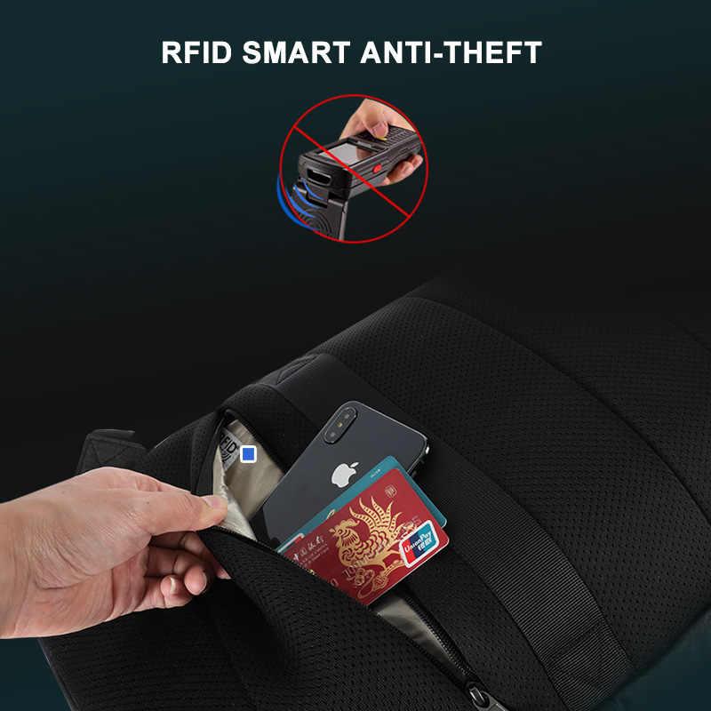 2020 Tigernu חדש אופנה RFID אנטי גניבה גברים 15.6 אינץ מחשב נייד תרמיל USB טעינת זכר נקבה עמיד למים בית הספר מוצ 'ילאס