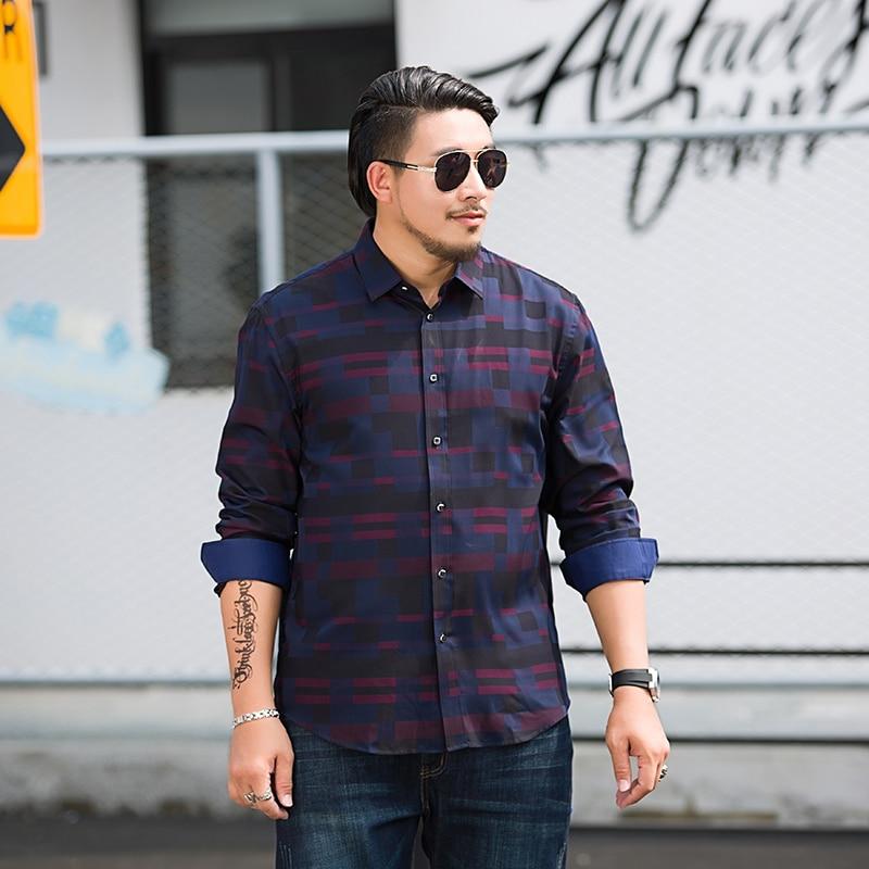 Big Plus Size 8XL 7XL 6XL 5XL Brand  New Striped Shirt Men Causal Shirts High Quality Clothing Men Business Dress Shirt