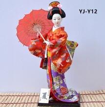 Myblue 30 см kawaii ручная работа Японский гейша кимоно кукла