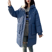 New Winter Warm Down cotton Jacket coat Women Korean loose Students long Cotton Jackets Women's Casual coats Hooded Parkas F919