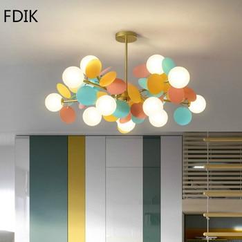 цена Modern Pendant Light Flower Branch Hanging Lamp for Living Room Bedroom Hotel Hall Lamp Suspension Luminaire Lighting Fixtures онлайн в 2017 году