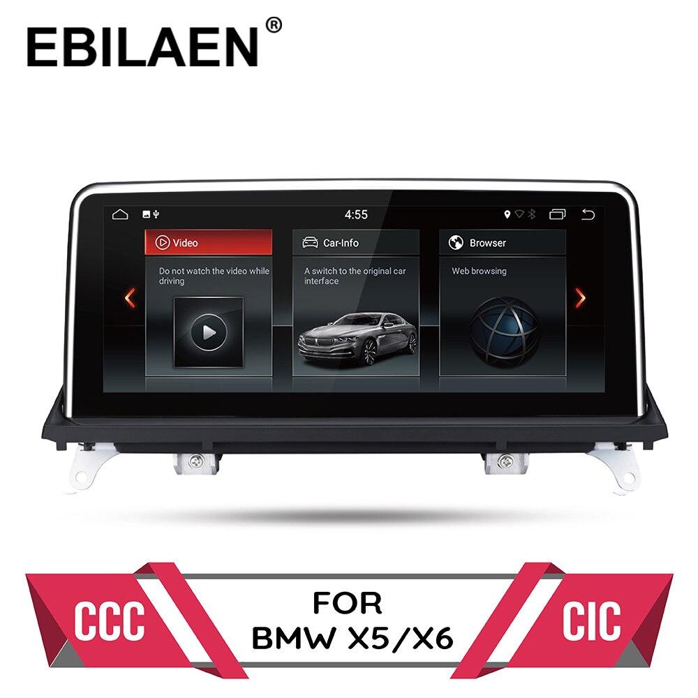 Lecteur dvd de voiture Android 9.0 pour BMW X5 E70/X6 E71 (2007-2013) système CCC/CIC autoradio gps navigation unité de tête multimédia PC